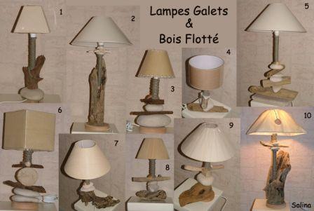 1 Lampe Galet Et Bois Flotte Au Bout Des Flots